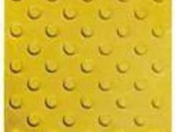 Тактильная плитка 400х400х50 бетонная Шаблон уваги