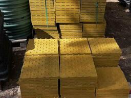 """Тактильная плитка бетонная """"Полоса"""" 500х500х55"""