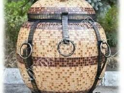 Тандыр Утепленный Бочка в мозаике с Утепленной крышкой