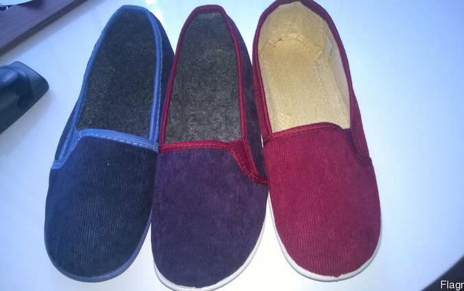 Тапочки текстильные женские, обувь