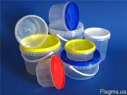 Тара пластиковая в белом и прозрачном вариантах