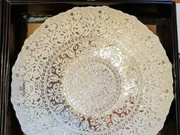 Тарелка декоративная, 40 см. Стекло