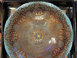 Тарелка декоративная, глубокая,40 см. Стекло