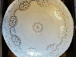 Тарелка декоративная, глубокая, диам.40 см. Стекло