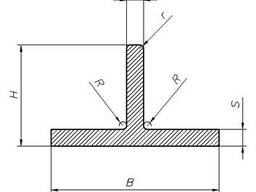 Алюминиевый тавр 80x50x2 мм