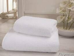 Текстиль для гостиниц, хосстелов, полотенце махровое, белое