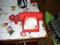 Телефон домашний с дисковым набирателем,