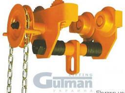 Тележка каретка для ручной цепной тали Gutman, тип KML-3000