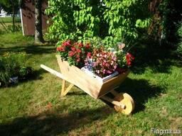 Тележка-клумба для растений и цветов