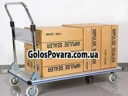 Тележка платформенная грузовая на 300 кг алюминиевая