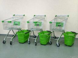 Торговые тележки супермаркета, магазина, объем 80 литров