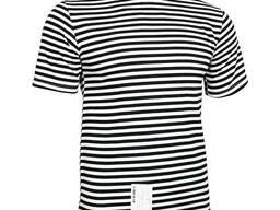 Тельняшка-футболка вязаная (черная, морская пехота)