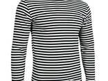 Тельняшка летняя с длинным рукавом 100% хлопок вязаная (черная, морская пехота) 62 - фото 1