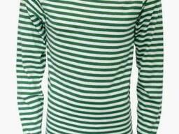 Тельняшка пограничная зелёные вязаные