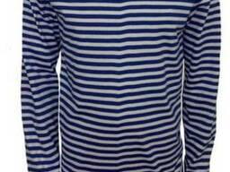Тельняшка вязанная голубая