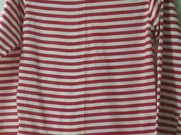 Тельняшки вязанные, хлопок, летние, 50 р и др, с красной полосой и другие.