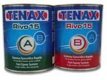 TENAX Клей шпаклевка эпоксидный Rivo15 A B 1л (черный, прозр - фото 1