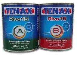 TENAX Клей шпаклевка эпоксидный Rivo15 A B 1л (черный, прозр