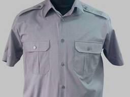 Тенниска голубая форменная, рубашка форменная хлопок