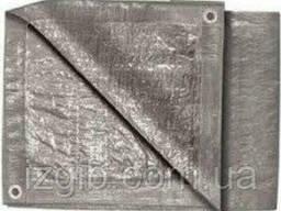 Тент строительный 6х8м серебро 110г/м2
