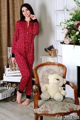 Теплая пижамка с кармашком на попе! Отличный подарок для дев