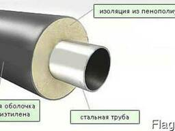 Труба стальная теплоизолированная 820/1000 пе/spiro