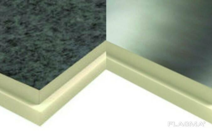 Теплоизоляционные плиты PIR 80мм стеклохолст
