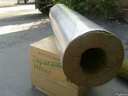 Теплоизоляция труб цилиндрами из базальтового волокна