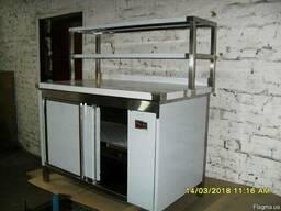 Тепловой стол с надстройкой линия раздач
