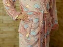 Теплый красивый женский махровый халат 42-48, доставка по. ..