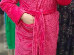 Теплый красивый женский махровый халат 42-50, доставка по. ..