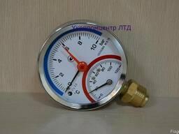 Термоманометр, манометр с термометром ДМТ05080, МТ-80