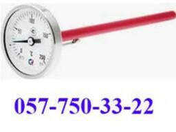 Термометр биметаллический показывающий, погружной, радиальны