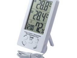 Термометр-гигрометр TA298 с часами и выносным датчиком
