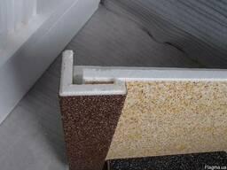 Откосы из пенопласта покрытые мраморной крошкой