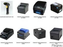 Термопринтеры, принтеры чеков и этикеток, сканеры штрих кодо