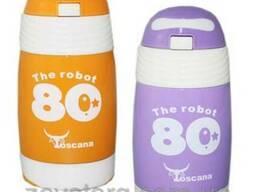Термос детский с трубочкой Toscana The robot 340 ml