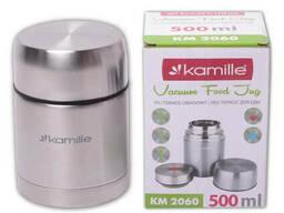 Термос пищевой из нержавеющей стали Kamille 500 мл