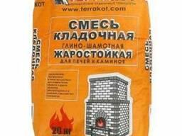 Terrakot смесь кладочная глино-шамотная (до 1300) 20кг (шт.)