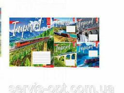 Тетрадь на 18 листов в линейку YES Travel to Europe