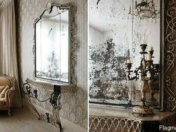 The mirror is aged we make a mirror aged of all kinds.