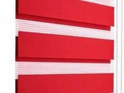 Тканевые роллеты, день-ночь, (зебра) красный