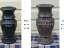 Точеные изделия из гранита: вазы, шары, балясины, пороховниц