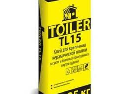 Toiler TL 15 высокопрочный клей для плитки д\внутр.работ 25к