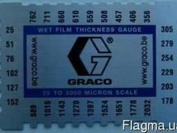 Толщиномер Graco. Измеритель толщины влажной краски гребенка