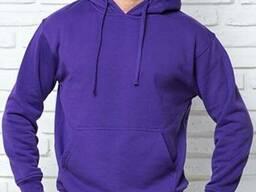 Толстовка мужская с капюшоном фиолетовая