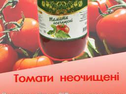 Томаты неочищенные в томатном соке, томати неочищені в соку