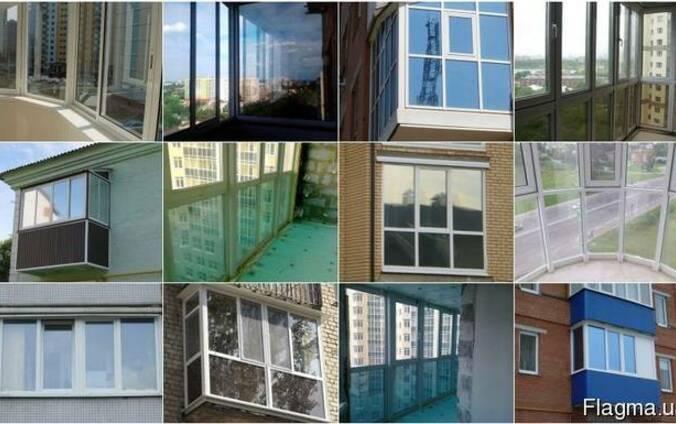 Тонированный балкон, лоджия, французский балкон