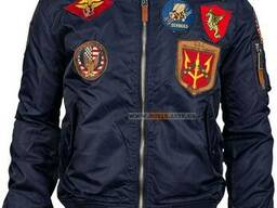 Top Gun MA-1 Nylon Bomber Jacket with Patches, USA