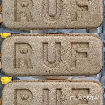 Топливный брикет из 100% дуба RUF (Руф) 3000 грн/т опт 22т